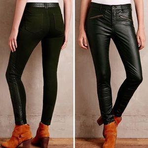 New Anthropologie Pilcro Vegan Leather Moto Pants